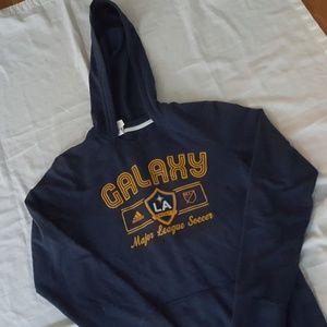 LA Galaxy MLS Medium Hoodie Adidas